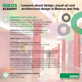 26.04.2017 - Lessons about design in Belarus and Italy - Marco Eugenio Di Giandomenico