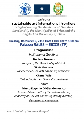 12.05.2017 - Conference INTERNATIONAL FRONTIERS OF SUSTAINABLE ART - Marco Eugenio Di Giandomenico